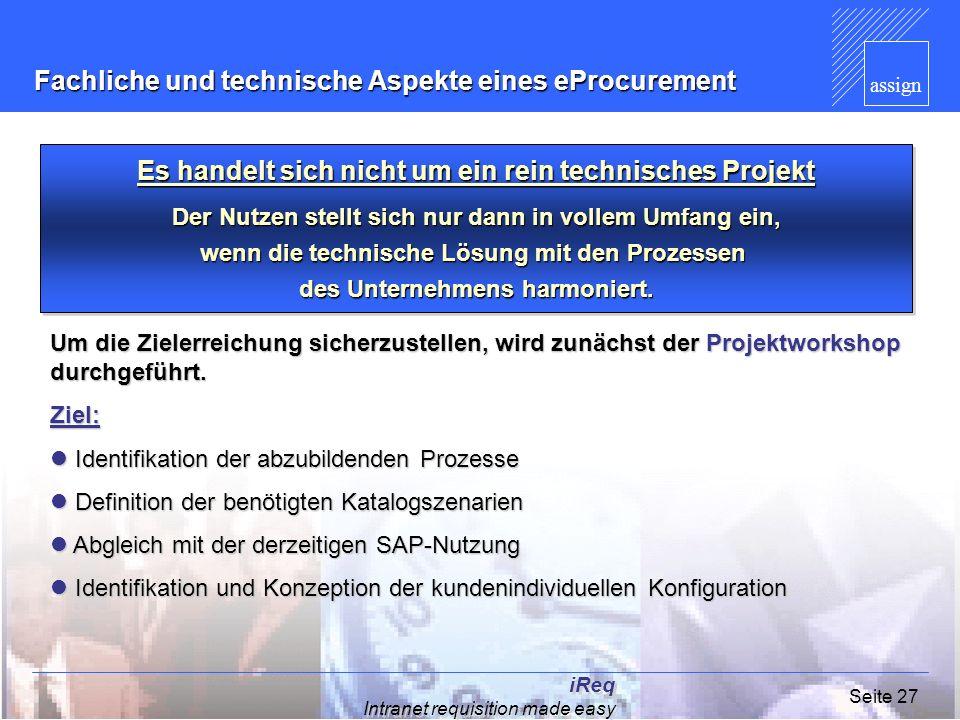 Fachliche und technische Aspekte eines eProcurement