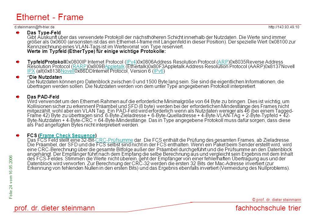 Ethernet - Frame