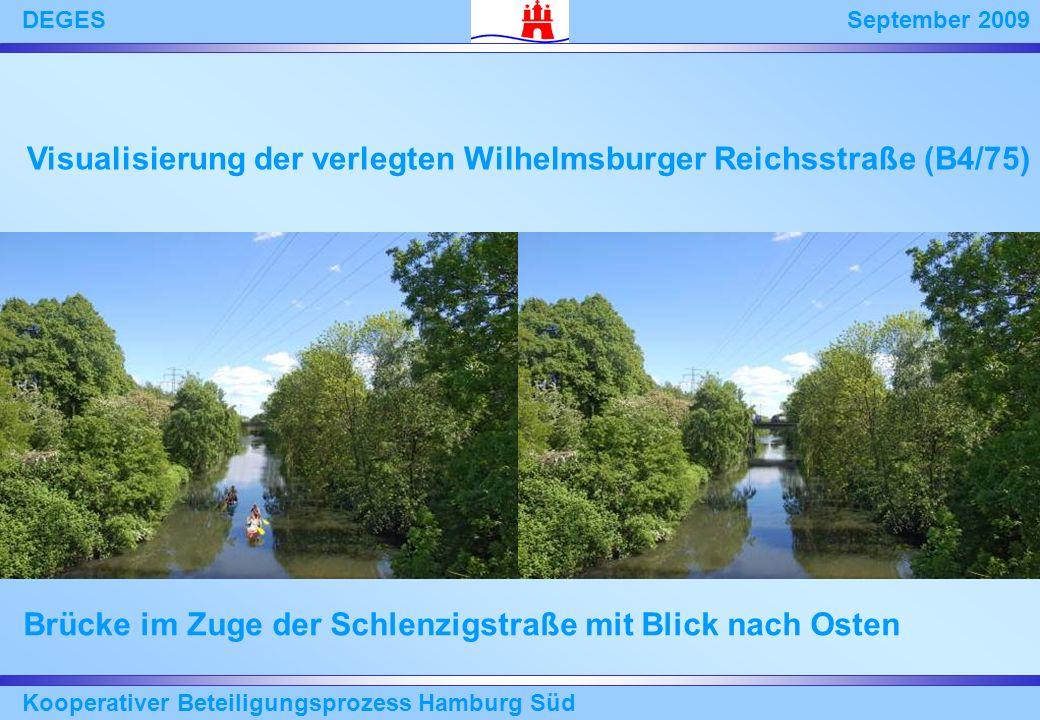 Visualisierung der verlegten Wilhelmsburger Reichsstraße (B4/75)