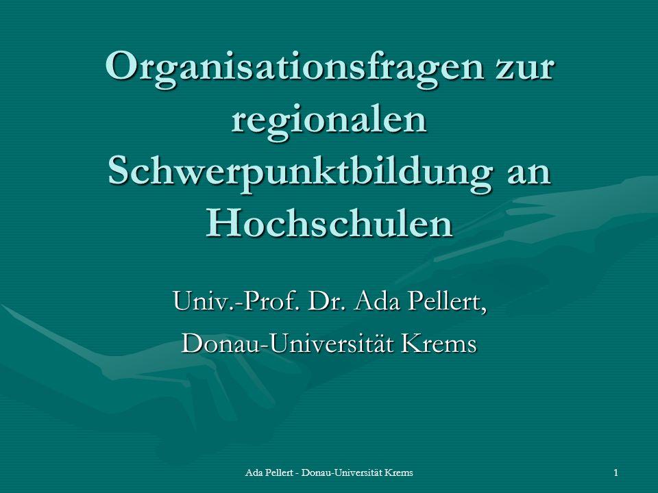 Organisationsfragen zur regionalen Schwerpunktbildung an Hochschulen