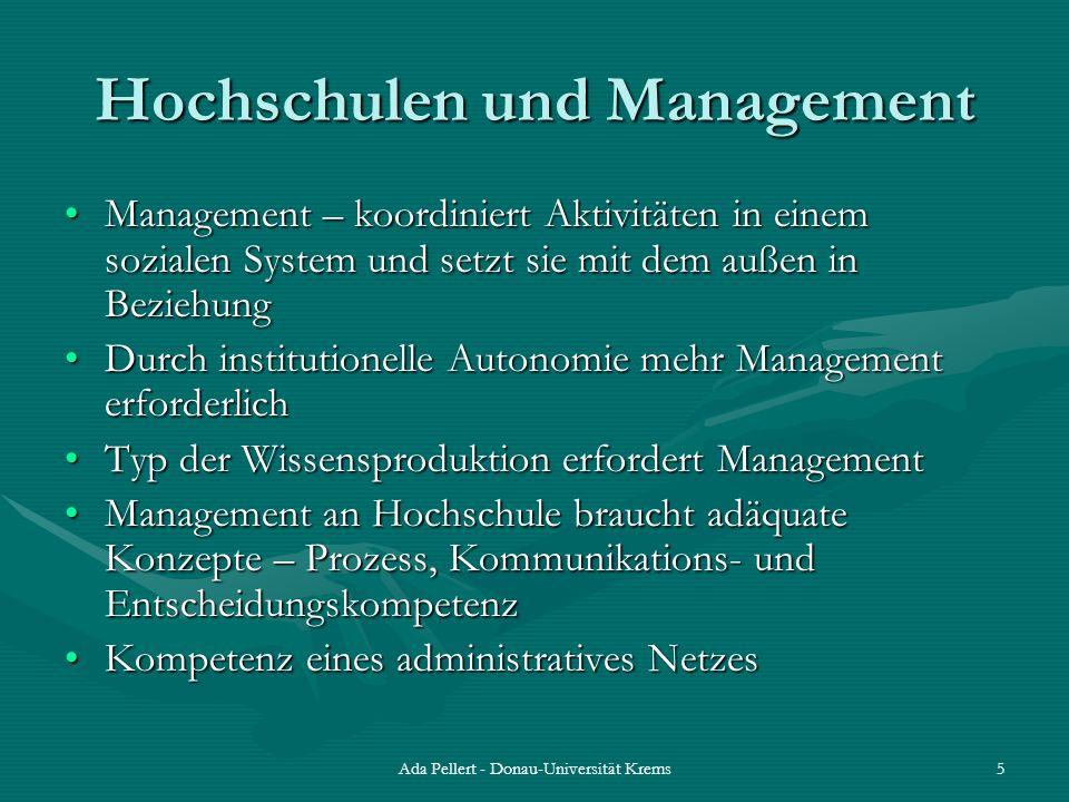 Hochschulen und Management
