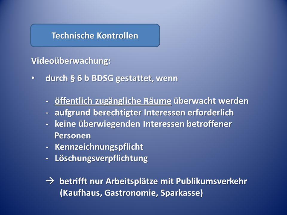 Technische Kontrollen