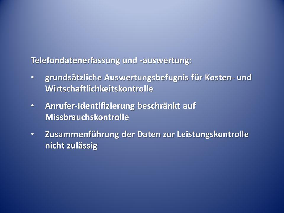 Telefondatenerfassung und -auswertung: