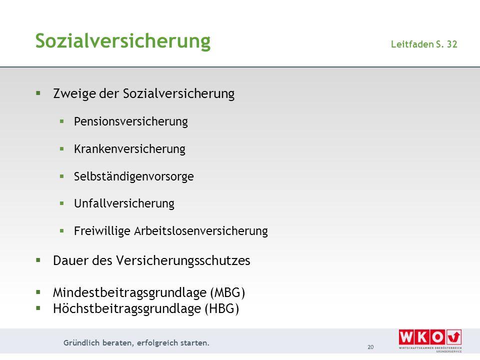 Sozialversicherung Leitfaden S. 32