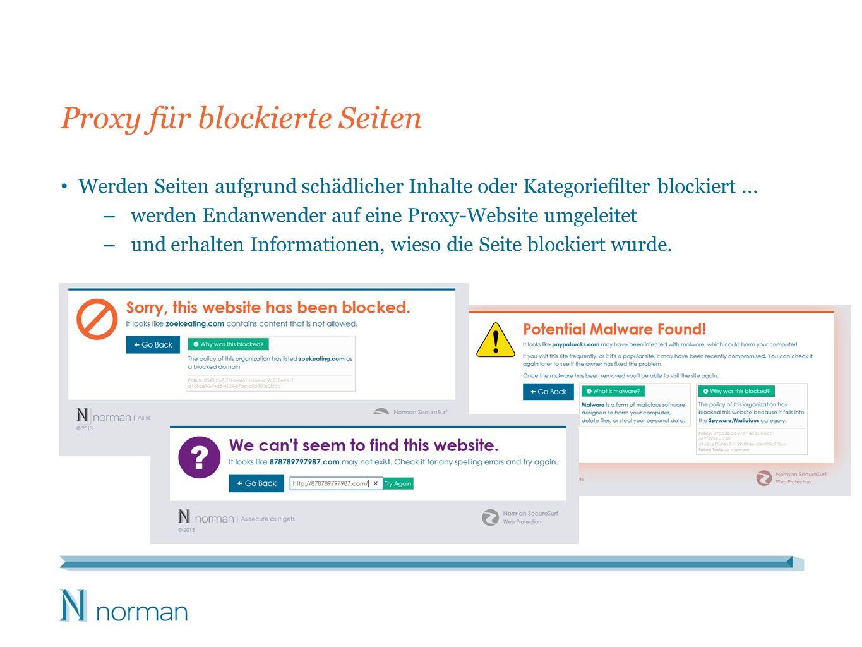 Proxy für blockierte Seiten