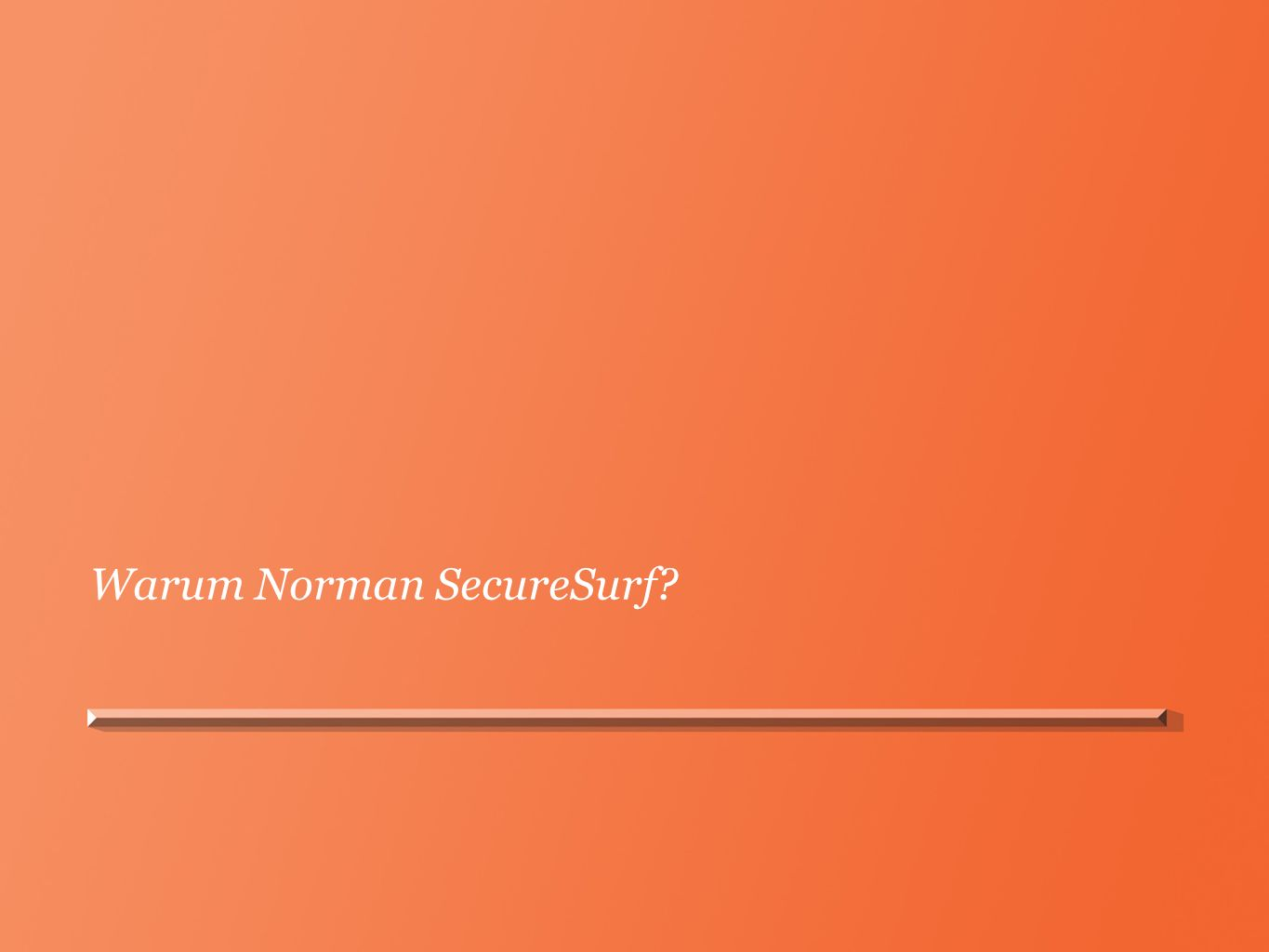 Warum Norman SecureSurf