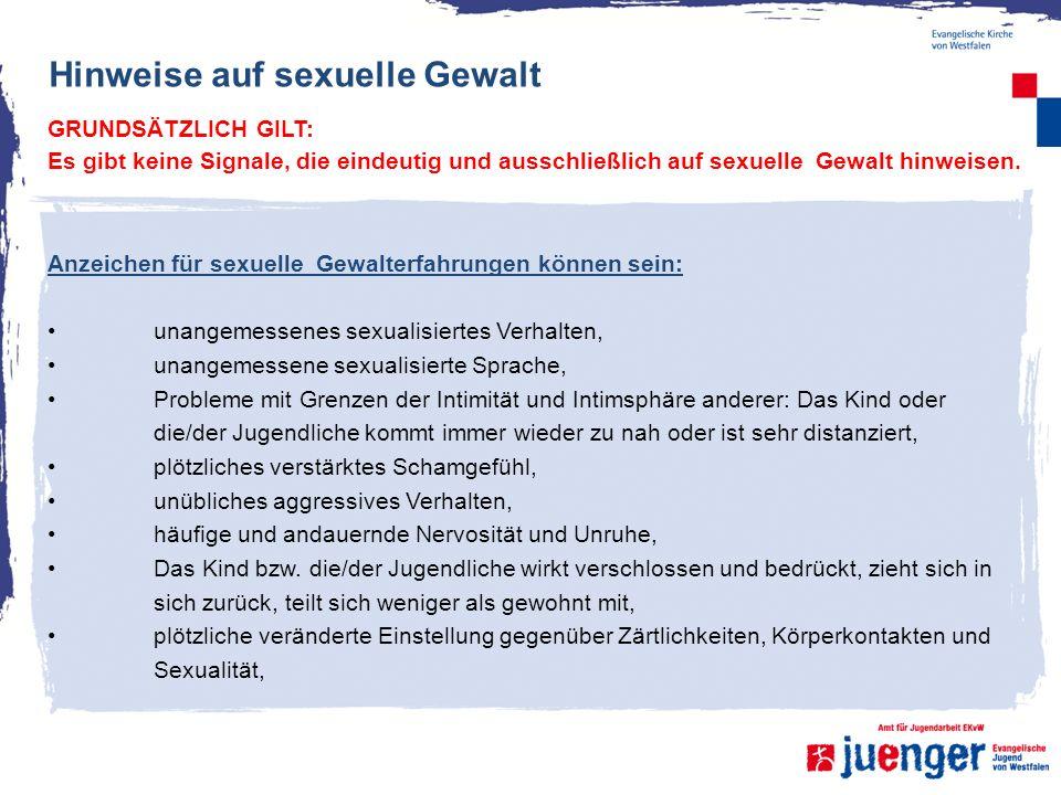 Hinweise auf sexuelle Gewalt