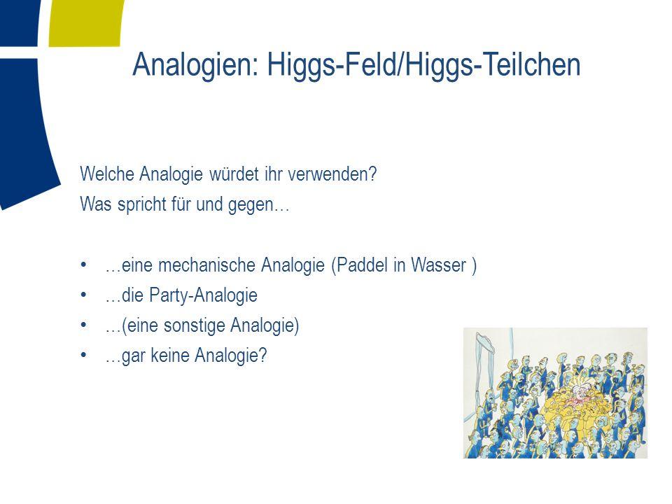 Analogien: Higgs-Feld/Higgs-Teilchen
