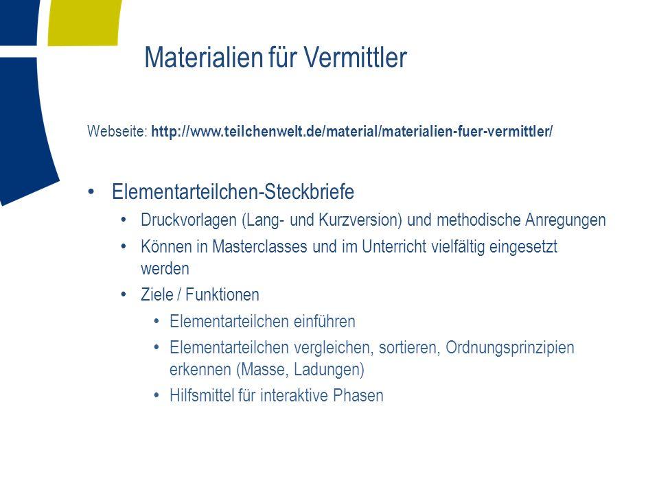 Materialien für Vermittler