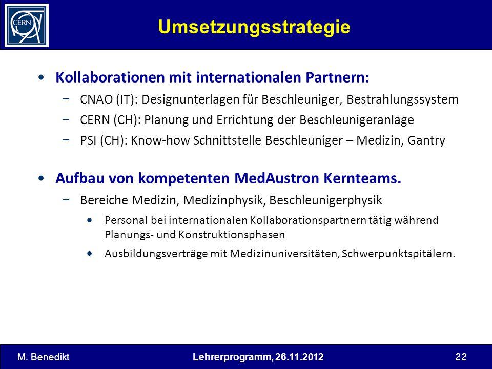 Umsetzungsstrategie Kollaborationen mit internationalen Partnern: