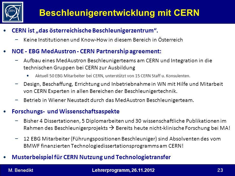 Beschleunigerentwicklung mit CERN