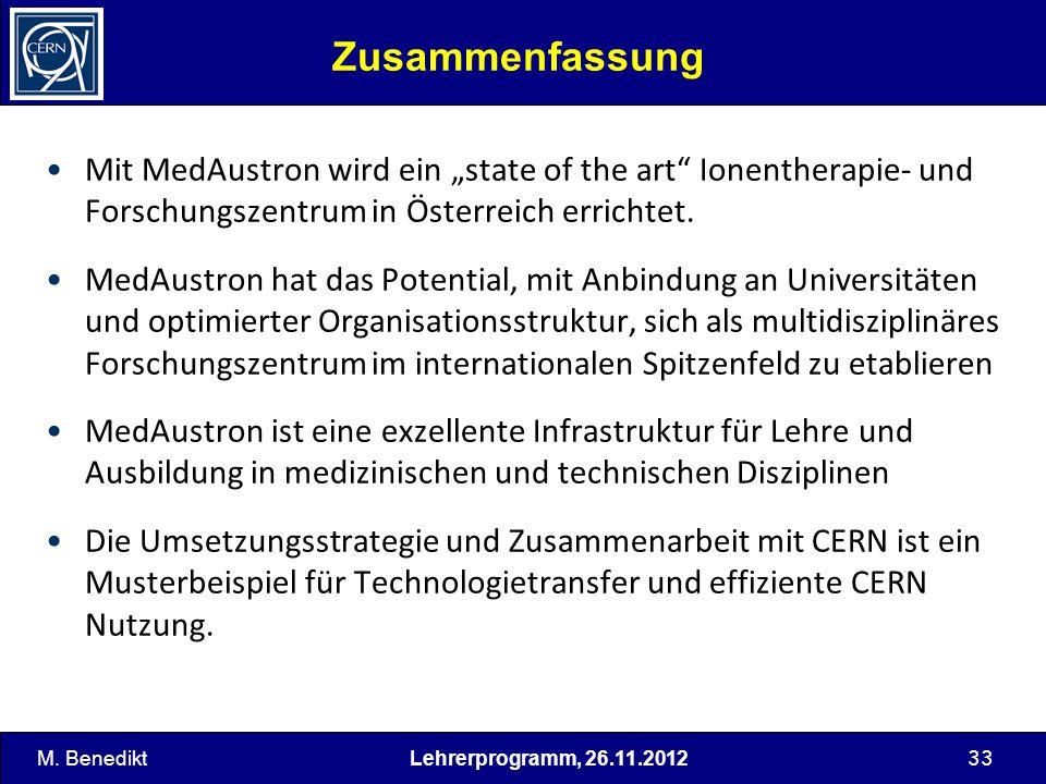 """Zusammenfassung Mit MedAustron wird ein """"state of the art Ionentherapie- und Forschungszentrum in Österreich errichtet."""