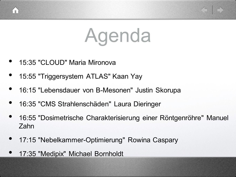 Agenda 15:35 CLOUD Maria Mironova
