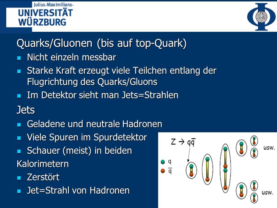 Quarks/Gluonen (bis auf top-Quark)