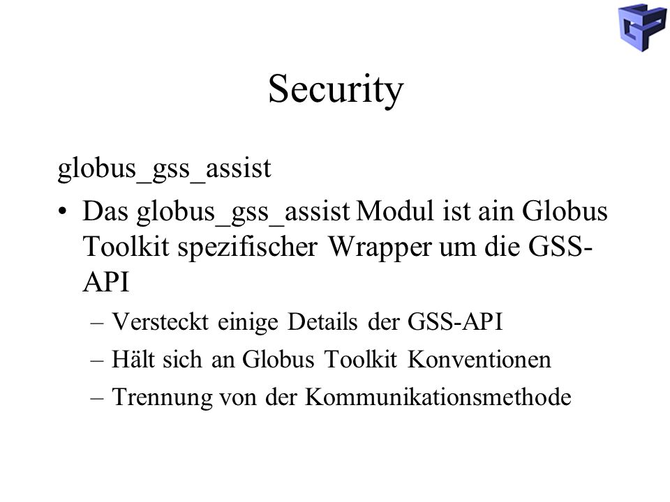 Security globus_gss_assist