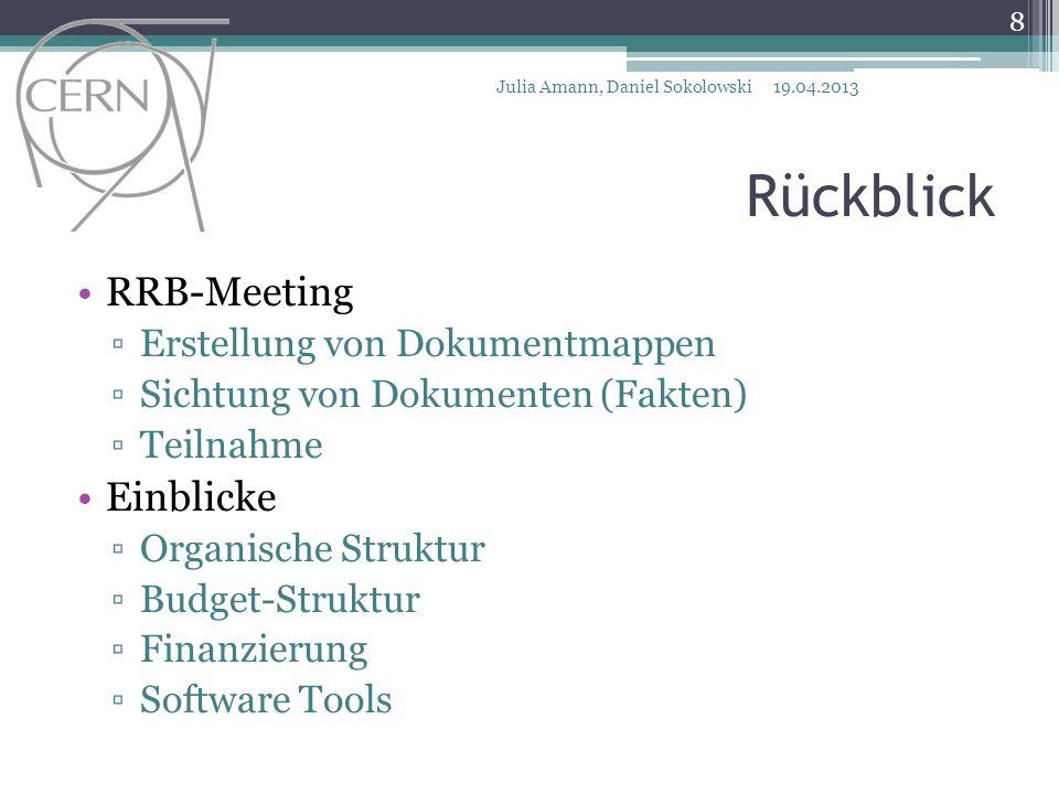 Vielen Dank! Rückblick RRB-Meeting Einblicke