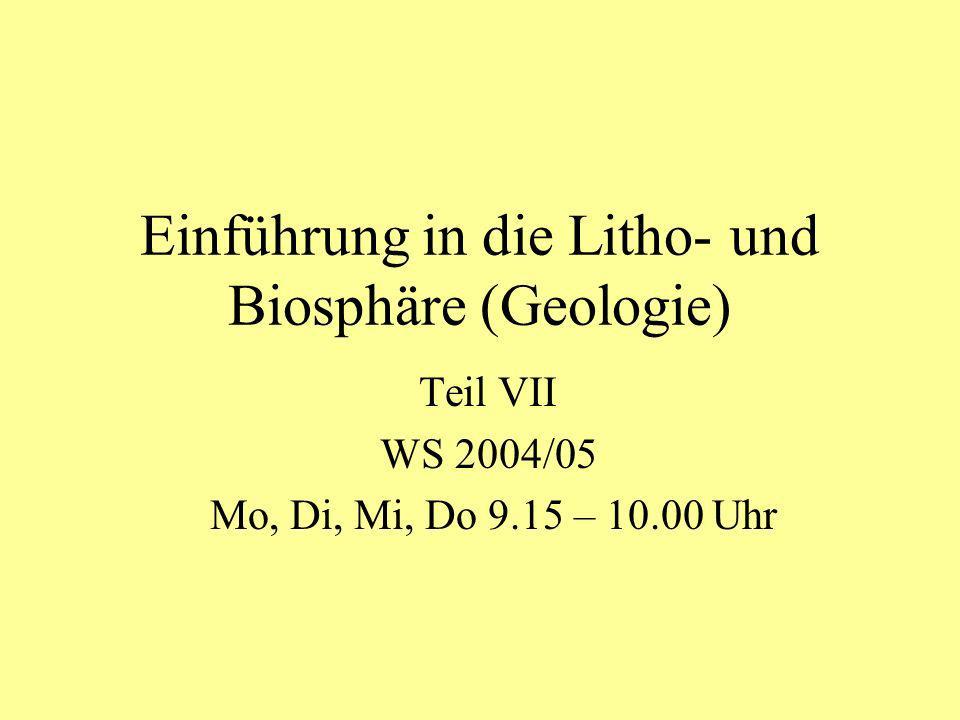 Einführung in die Litho- und Biosphäre (Geologie)
