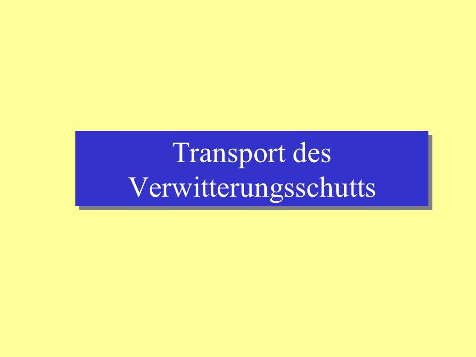 Transport des Verwitterungsschutts