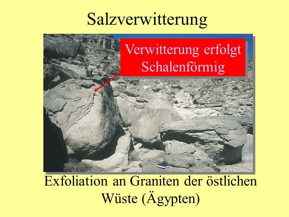Exfoliation an Graniten der östlichen