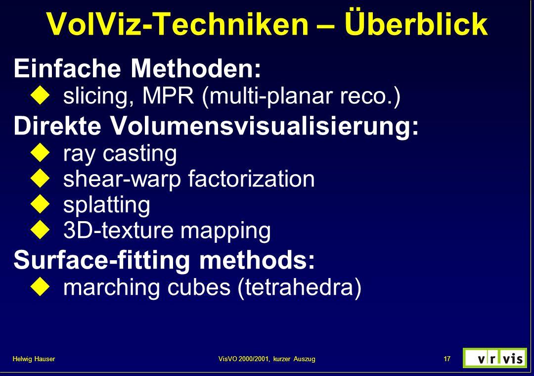 VolViz-Techniken – Überblick
