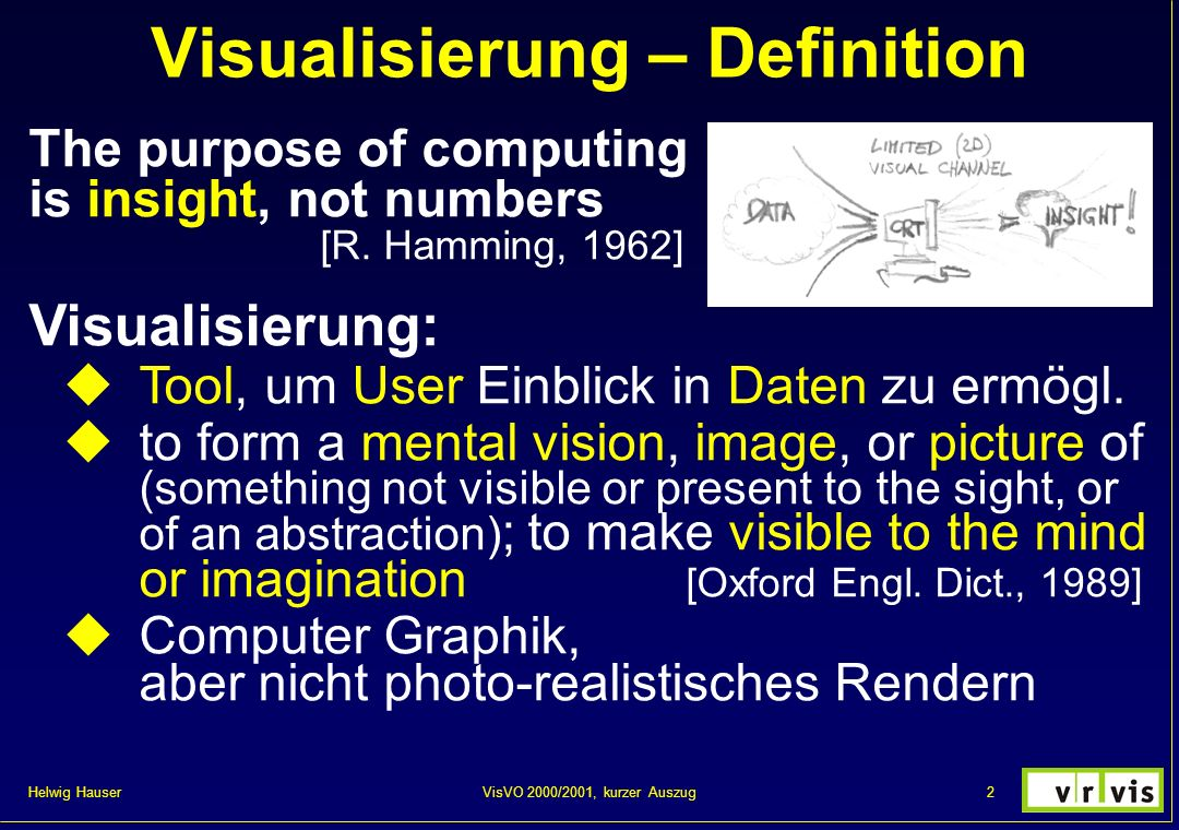Visualisierung – Definition