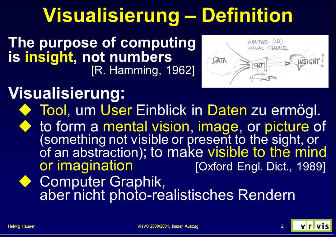 Visualisierung – Definition