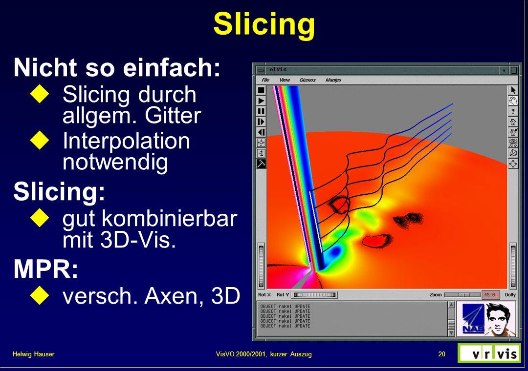 Slicing Nicht so einfach: Slicing: MPR: Slicing durch allgem. Gitter