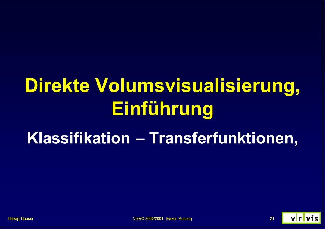 Direkte Volumsvisualisierung, Einführung