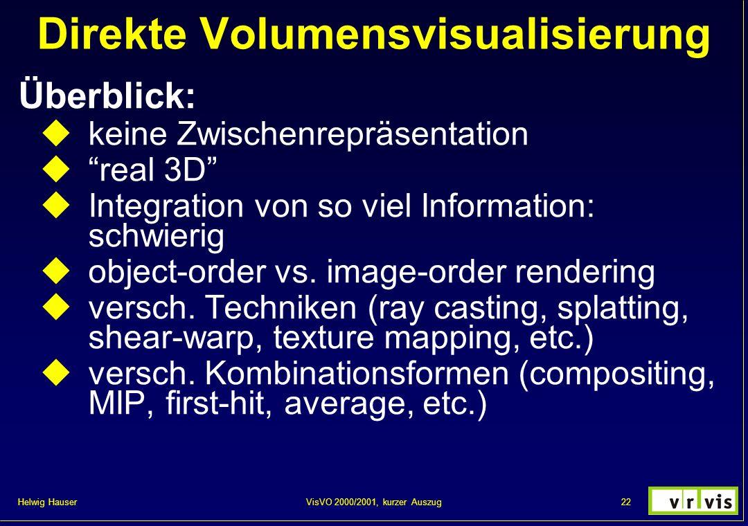 Direkte Volumensvisualisierung
