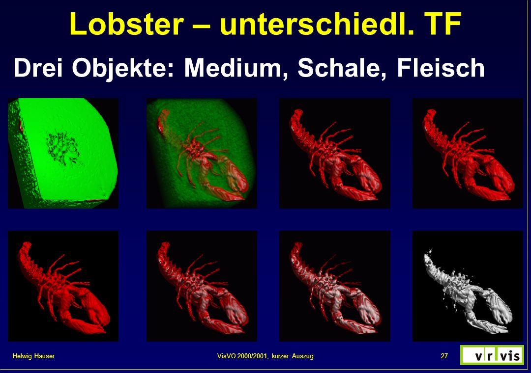 Lobster – unterschiedl. TF