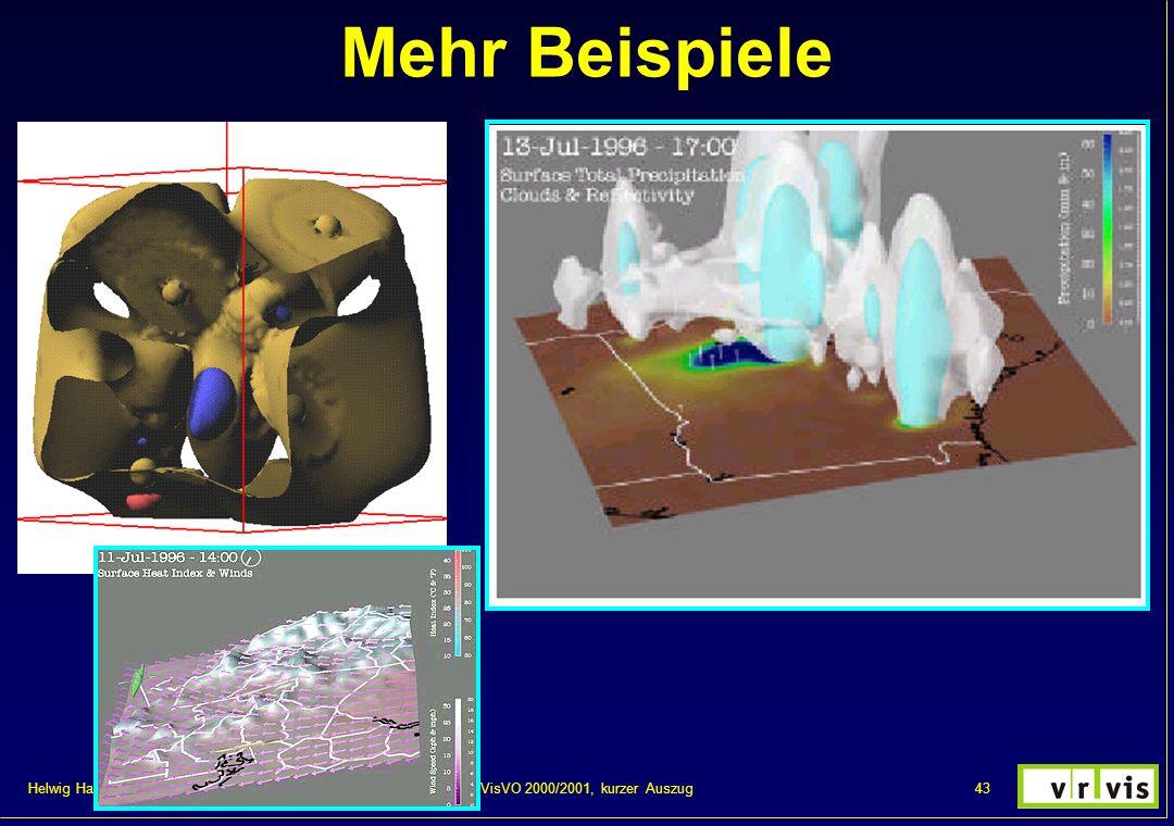 Mehr Beispiele VisVO 2000/2001, kurzer Auszug