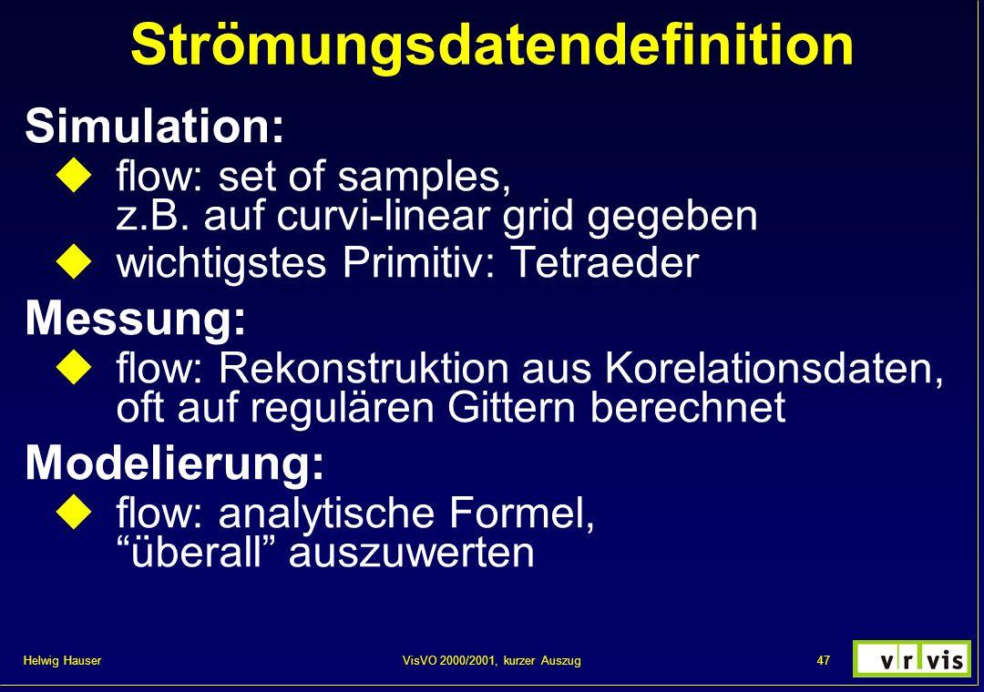 Strömungsdatendefinition