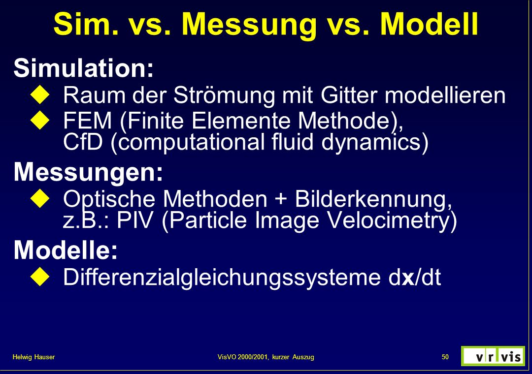 Sim. vs. Messung vs. Modell