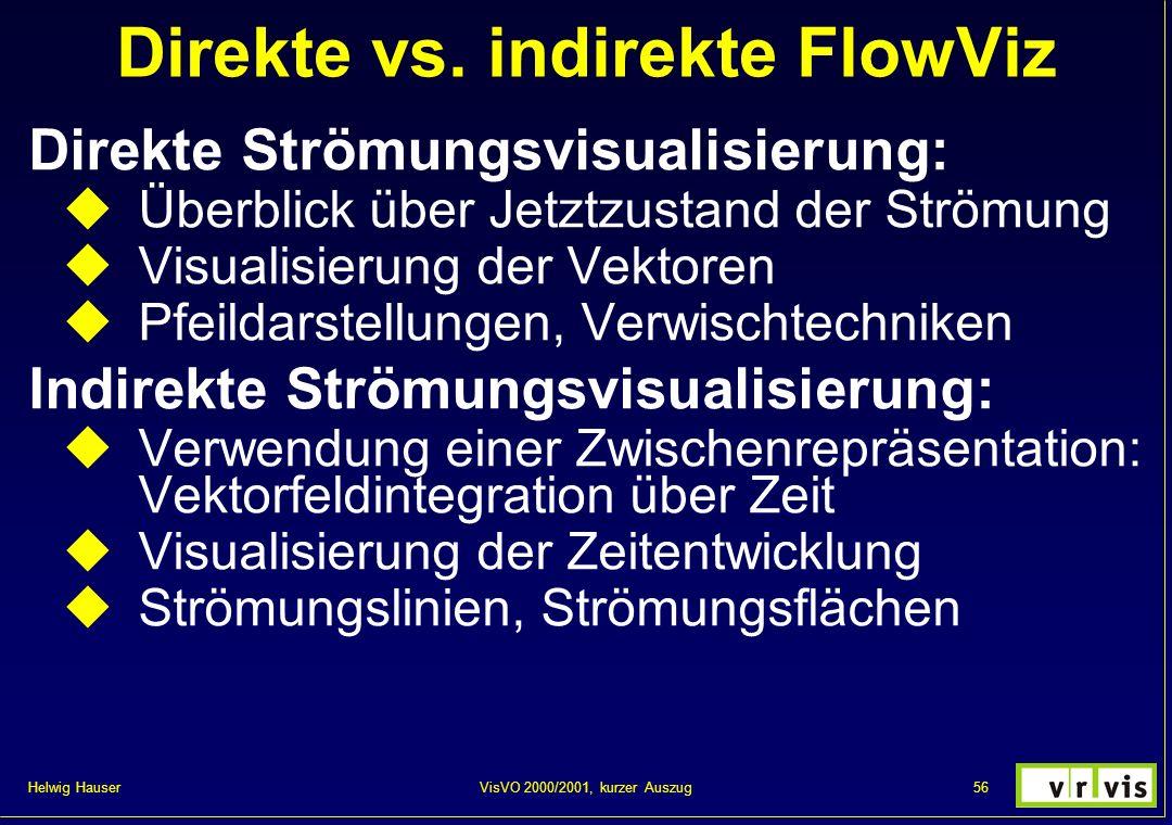 Direkte vs. indirekte FlowViz