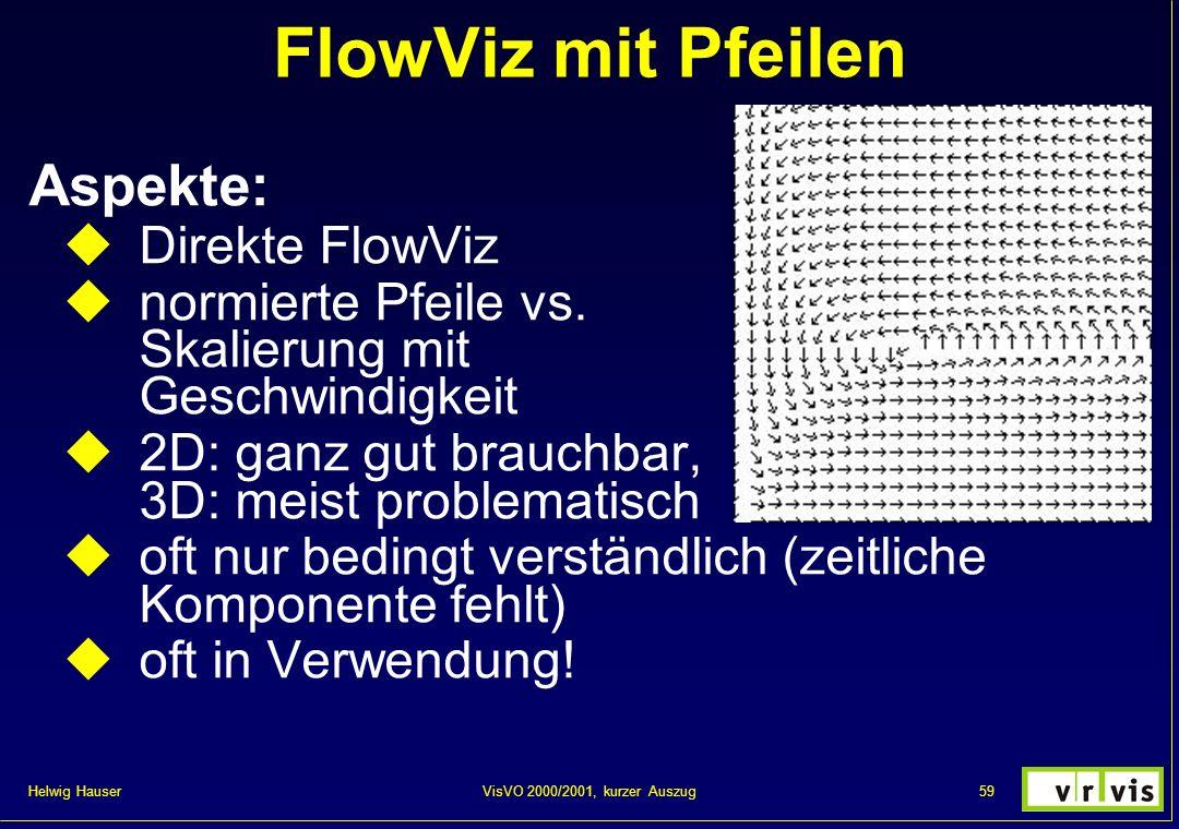 FlowViz mit Pfeilen Aspekte: Direkte FlowViz
