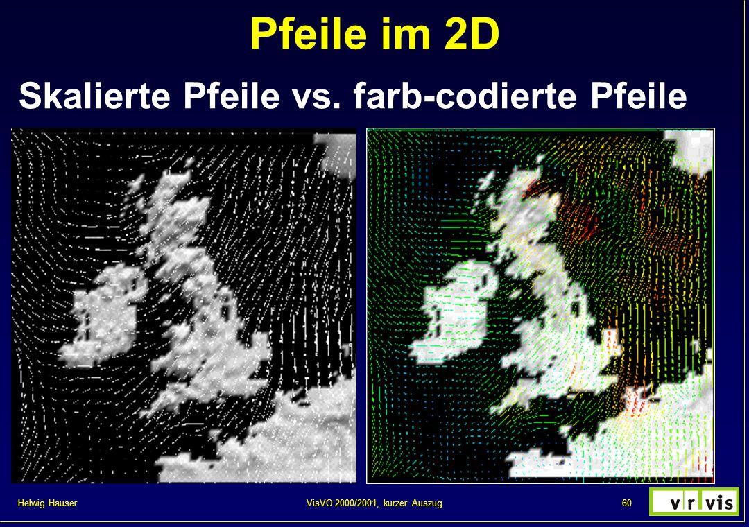 Pfeile im 2D Skalierte Pfeile vs. farb-codierte Pfeile