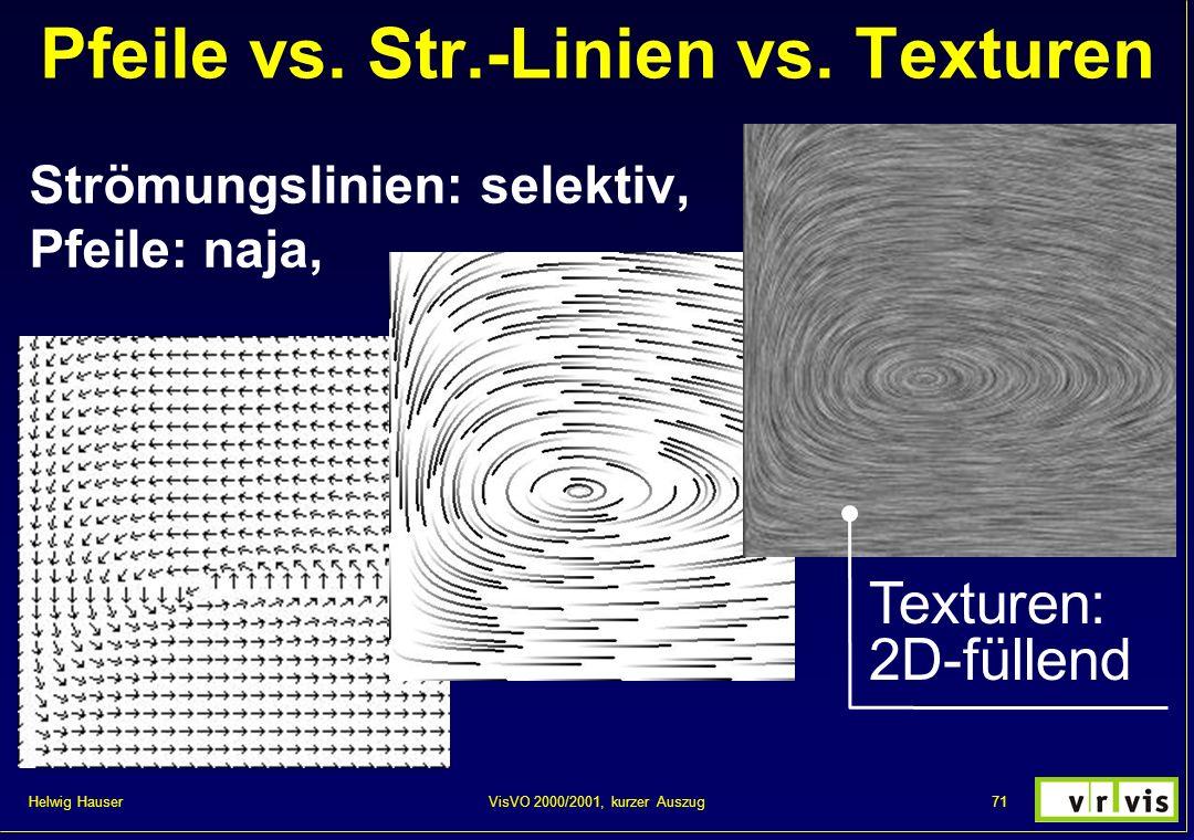 Pfeile vs. Str.-Linien vs. Texturen