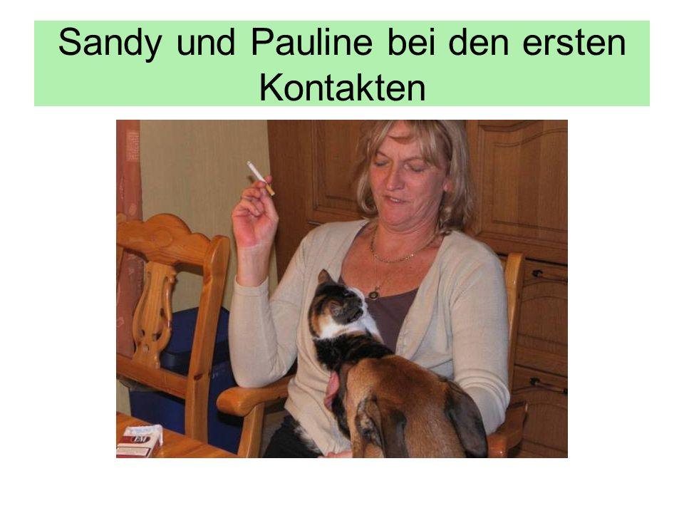 Sandy und Pauline bei den ersten Kontakten