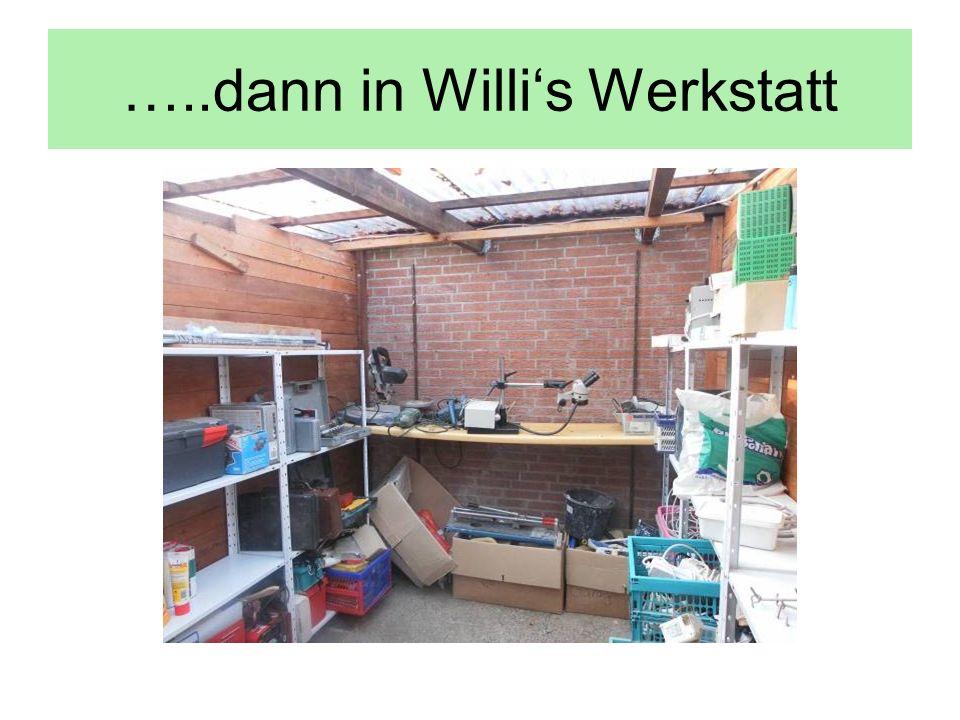 …..dann in Willi's Werkstatt