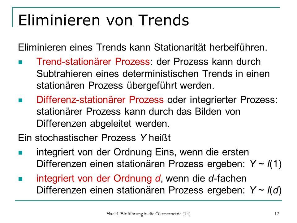Eliminieren von Trends