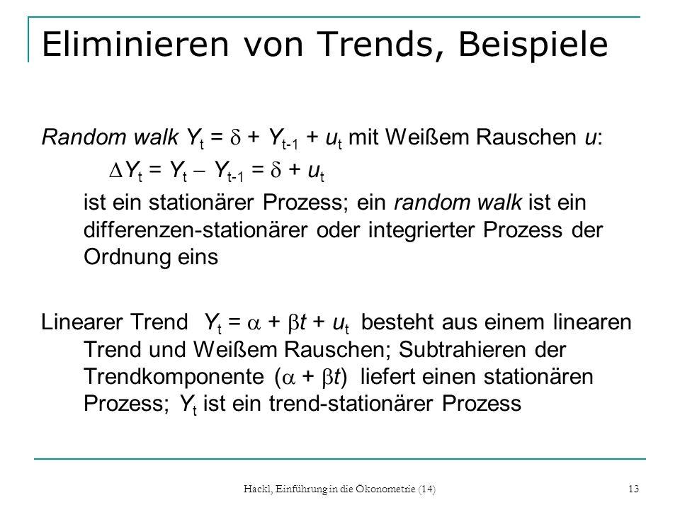 Eliminieren von Trends, Beispiele