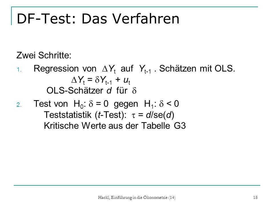 DF-Test: Das Verfahren