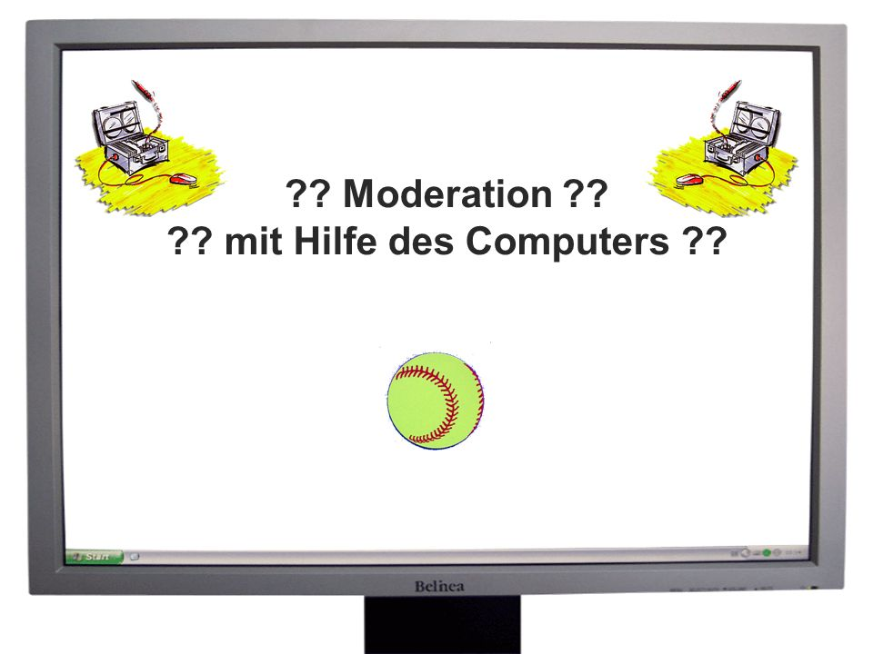 Moderation mit Hilfe des Computers