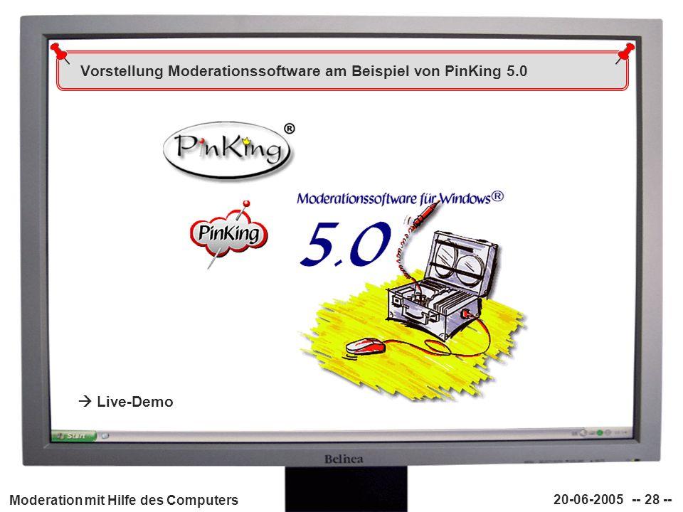 Vorstellung Moderationssoftware am Beispiel von PinKing 5.0