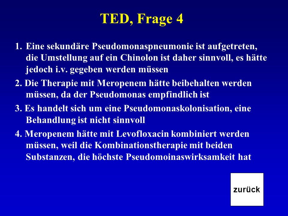 TED, Frage 4