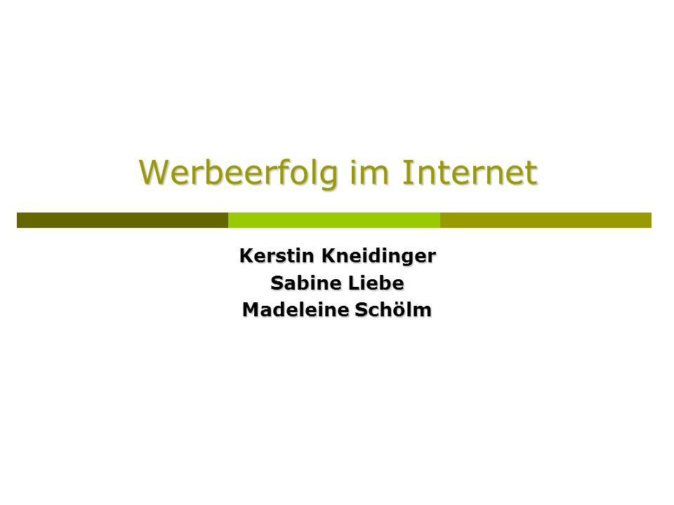 Werbeerfolg im Internet