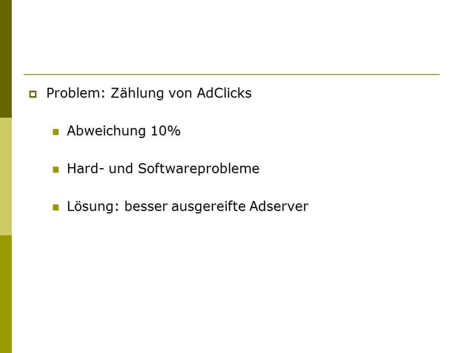 Problem: Zählung von AdClicks