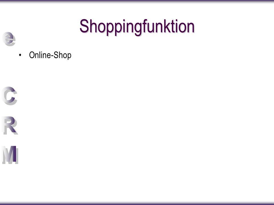 Shoppingfunktion Online-Shop Überarbeiten