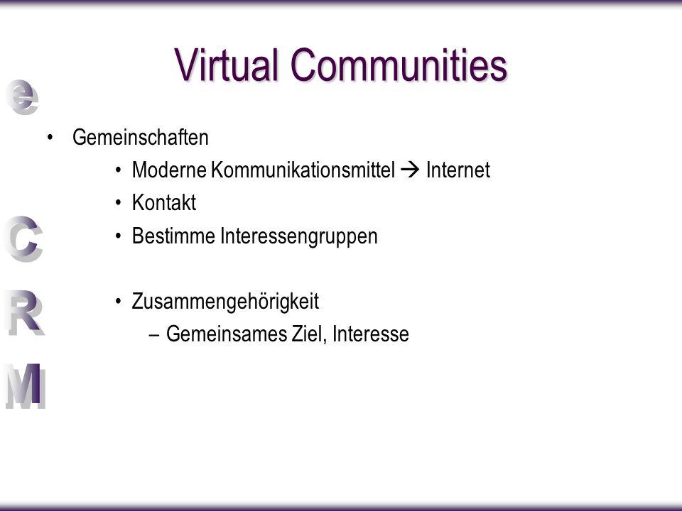 Virtual Communities Gemeinschaften