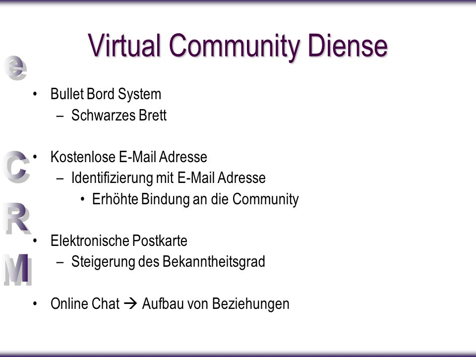 Virtual Community Diense